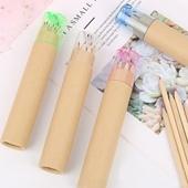 원통형 색연필 12색 세트+연필깎이(AA030
