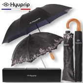 협립 2단 내부펄 원목 곡자손 우산+양산 아우라세트