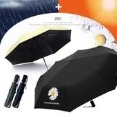 AUTO 자동 3단 양우산 - GD데이지 /우산/ UV 자외선차단 우산 /암막/양산겸용/컬러다양
