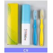 여행용 미세모 왕칫솔 2P세트/페리오/부광/2080치약/청은차/크리오/치실