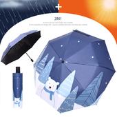 3단 암막 양우산- 푸른곰사람 / UV 자외선차단/양산겸용/리버설/우산/양우산/우양산/암막양산/UV차단