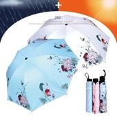 3단 암막 양우산- 로망꽃 / UV 자외선차단/양산겸용/리버설/우산/양우산/우양산/암막양산/UV차단