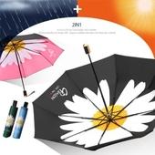 3단 암막 양우산- 활짝데이지 / UV 자외선차단/양산겸용/리버설/우산/양우산/우양산/암막양산/UV차단
