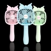 휴대용 손 선풍기 충전용 탁상용선풍기 여름필수품 LED불빛 / 스티커제작가능