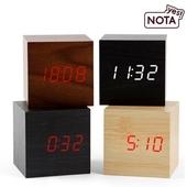 [예스노타] 1293큐브  LED우드시계