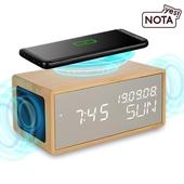 [예스노타] ES2019무선충전 블루투스스피커 LED미러시계
