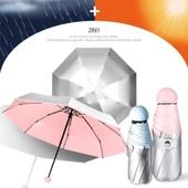 5단 은박 양우산 - 실버라인 / UV 자외선차단/미니/양산겸용/우산/양우산/우양산/은박코팅