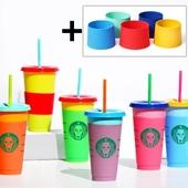 오보틀 컬러체인징 리유저블 콜드컵 710ml / 컵홀더포함 /변색컵