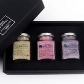 프리미엄 소금 선물세트 3P (함초소금,복분자소금,블루베리소금) 쇼핑백포함