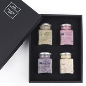 프리미엄 소금 선물세트 4P (함초소금,복분자소금,블루베리소금,마늘소금) 쇼핑백포함