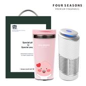 포시즌 선물세트 공기청정기 + 카카오프렌즈 그래픽 텀블러