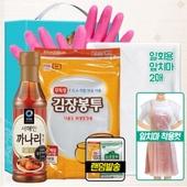청정원 까나리액젓 비닐고무장갑32cm 김장봉투대 일회용앞치마(4종)-타신