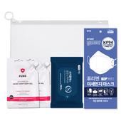 코로나 생활안심세트-VM502 (KF80마스크 1P + 손소독티슈10매 1P+ 손소독젤30ml 2P )