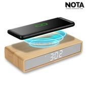 노타 W101 슬림 밀러 무선충전시계 LED시계