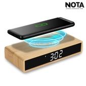 노타 W101 슬림 흑경 무선충전시계  LED시계