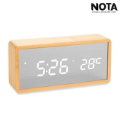 노타 R1299 직각 밀러우드시계 LED시계