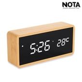 노타 R1299 직각 흑경우드시계 LED시계