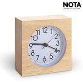 노타 원목아날로그시계 S01-S(사각) 알람시계