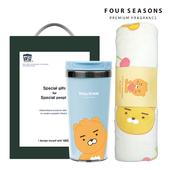 포시즌 선물세트 카카오프렌즈 무릎담요+카카오프렌즈 그래픽 텀블러