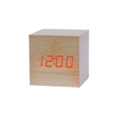 LED시계-정사각(연브라운)