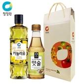 [청정원] 카놀라유.맛술 선물세트