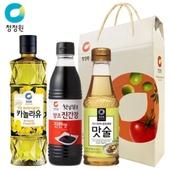 [청정원] 카놀라유.진간장.맛술 선물세트