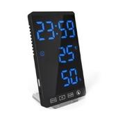 모던오피스 블랙 LED 스탠드 온도표시 필수 디지털 시계 CA150
