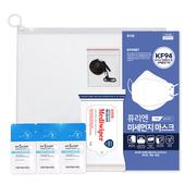 코로나 생활안심세트-VM512 (손소독티슈 10매 1P + 올가드KF94 1P+ 마스크스트랩 1P + 손세정젤3ml 3P)
