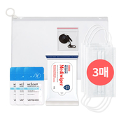 코로나 생활안심세트-VM510 (손소독티슈 10매 + 일회용마스크 3P + 손세정젤 3ml 3P + 마스크스트랩 1P )