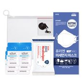 코로나 생활안심세트-VM513 (손소독티슈 10매 1P + KF94마스크 1P + 손세정젤 3ml 6P + 마스크스트랩 1P )