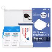 코로나 생활안심세트-VM514 (손소독티슈 10매 1P + KF94마스크 2P + 손세정젤 3ml 6P + 마스크스트랩 1P )