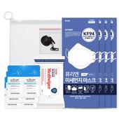 코로나 생활안심세트-VM517 (손소독티슈 10매 1P + KF94마스크 2P + KF80마스크 2P + 손세정젤 3ml 6P + 마스크스트랩 1P )