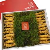 데오슈퍼팜 국내산 6년근 원수삼 바른인삼 상자 선물세트 1kg(20-22뿌리)+쇼핑백