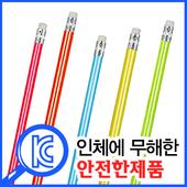 고급원형무지개연필5색세트