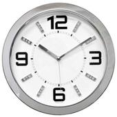 JS-3053큐빅크롬 무소음벽시계(벽걸이시계)