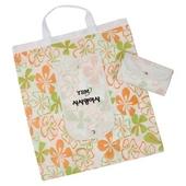 신형 꽃무늬 부직포 똑딱이 시장가방