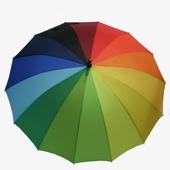 무지개일자 무지개 일자우산  컬러우산