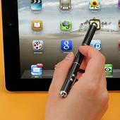 4in1정전식터치펜(터치펜+레이져포인터+LED라이트)