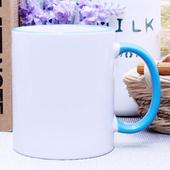 블루직선핸드라인머그컵