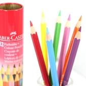 (파버카스텔)틴라운드일반색연필12색