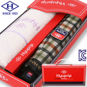 협립 3단 DBS체크우산+타월 세트-HP331CNT