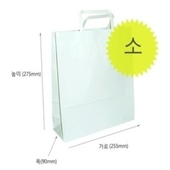 무지 자동기계봉투 쇼핑백 대/중/소