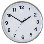 TS 300 알루미늄 무소음 벽걸이시계