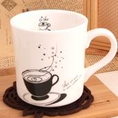모던화이트 일러머그-커피