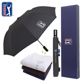PGA 2단자동 클래식우산+150g세면타올세트