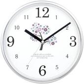 JS-3292 크롬큐빅무소음벽시계(벽걸이시계)