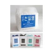 비닐팩 맛담 천일염300g